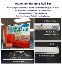 """Aluminum Rail for Hanging Foam Boards or other hard boards up to 3/8"""" thickness"""