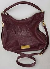Marc by Marc Jacobs Burgundy Red Leather Washed Up Billy Hobo Large