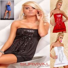 Womens Strapless Dress Size 6-8-10 Sexy Hot Club Wear Party Sequin Clubbing Top