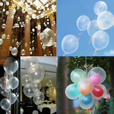 "Lots Latex Helium Charm Balloons 20-100X10"" Party Wedding Birthday Transparent"
