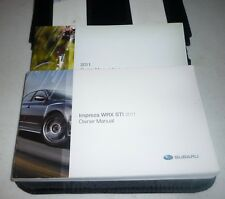 2011 SUBARU IMPREZA WRX STI OWNERS MANUAL SET 11 GUIDE w/case