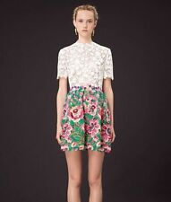 Designer Style Floral Lace Mini Dress, Valentino Style, Sz M