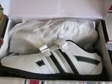 MENS SPORT  WHITE AND BLACK VELCRO WALKING SHOES SIZE 7.5, 8, 9.5, 11, 12