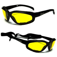 Chopper Wind Resistant Sunglasses Night Driving Yellow Motorcycle Riding Glasses