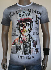 Minute Mirth Skeleton With Headphones Gangster Cartel T-Shirt Vintage