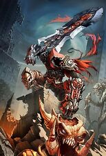Darksiders Wrath of War Game Fabric poster 36
