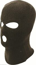 3 Hole Full Face Warm Knitted Hunting Paintball SWAT Army Ski Mask Balaclava