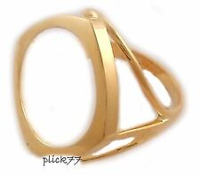 24k Gold Plated Triangle Design Women's Coin Ring for 2 Peso (Dos) Gold Coin