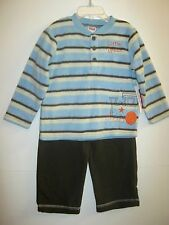 NEW W/T FISHER-PRICE BOYS 2 PC FLEECE TRAIN PANT OUTFIT 12M, 18M, 24M, 2T