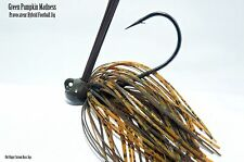 Old Hippy Custom Bass Jigs- Hybrid Football Jig- Green Pumpkin Madness