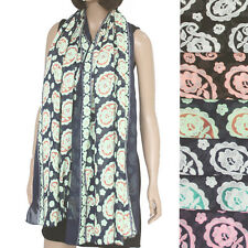 F203 Women's Scarf EMBOSSING Paisley Stole Made In KOREA wrap NEON color Various