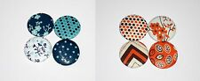 """Fabric Covered Buttons set of 4-1.5"""" OR 8-1"""" Handmade Large Buttons Metal Shank"""