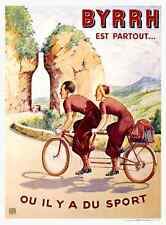 BYRRH Tandem Bicycle Poster Cycling
