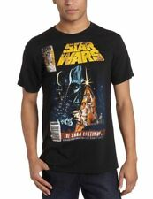 Adult Men's Movie Star Wars The Saga Continues Magazine Cover Black T-shirt Tee
