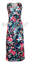 Women's Floral Tropical Vintage 50's Long Maxi Rockabilly Dress Size 8 to 16