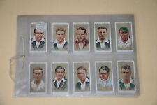 JOHN PLAYER & SONS -  Cigarette Cards - CRICKETERS 1934 - Full Set of 50