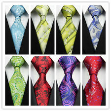 Yellow Blue Green Gray Red Black Pink Floral New Classic Mens Casual Tie Necktie