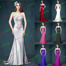 Wedding Bridal Gown Bridesmaid Formal Prom Evening Party Dress Stock Size 6~16