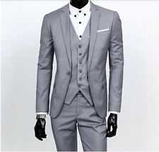 Men's Suit Jacket and Pants- Grey- Small