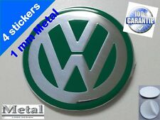 Centro de las Tapas Llantas Wheels Center Cap Sticker metal VW 11 GREEN