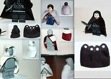 Custom Suede CAPE ONLY for Lego minifigure fabric leather fur Castle Game Throne
