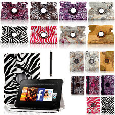 360 Rotating Leather Smart Case Cover Stand for Amazon Kindle fire HD HDX 7/8.9""
