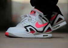 NIKE AIR TECH CHALLENGE II 643089 160 AGASSI WHITE-HOT LAVA-BLACK SELECT SIZE