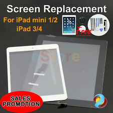 Premium Digitizer Replacement Front Glass Touch Screen Lens for iPad 3 4 Mini 2