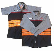Toyota Reflective Shirt Red Kap Hi Vis Mechanic Technician Uniform Tow Truck