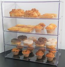 Bakery Display Case Stand Cabinet For Cakes, Cupcakes, Pastries - Four Tiers