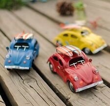 Shabby Chic Vintage Style Miniature Beetle car Metal European Classic Car