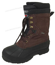 """Mens Winter Boots 10"""" Leather Thermolite Waterproof Hiking Snow Shoe Size:6.5-13"""