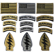 Special Forces MultiCam Patch/ Special Forces & Airborne & Ranger Tabs Badges