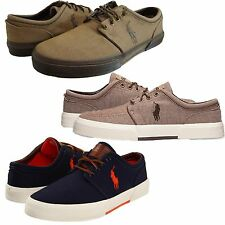 Polo Ralph Lauren Mens Faxon Low Casual Lace Up Fashion Sneakers Shoes Kicks