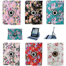 Beautiful 360 Rotating Leather Case Smart Cover Stand for iPad 2 3 4 Mini 4 Air