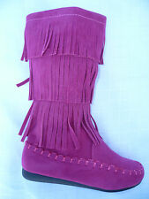 FUCHSIA BOOTS SHOES YOUTH KIDS GIRLS CANDICE SIZE 9-4