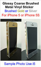 Glossy Coarse Brushed Metal Vinyl Sticker iPhone 5/5S Full Body Decal Sticker