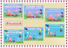Personalised Birthday Party Invitations Children Peppa Pig & George or Thank You