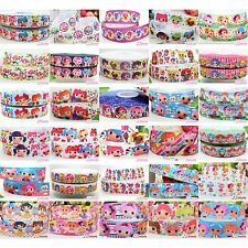 "2 5 10 Yards 1/2"" 7/8"" 1""  Lala Loopsy Grosgrain cartoon Ribbon Craft Bow Choose"