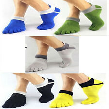 Hot arrivals Mens Cotton toe Socks Pure Sports Five Finger Breathable 1 pairs CN
