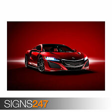 2016 ACURA NSX SUPERCAR (0042) Car Poster -  Photo Poster Print Art * All Sizes