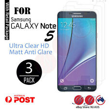 3X Screen Protector For Samsung Galaxy Note 5 Anti glare matt , Ultra clear HD