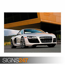 AUDI R8 V10 (0606) Car Poster -  Photo Picture Poster Print Art A0 A1 A2 A3 A4