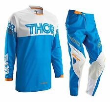 Thor 2016 Youth Phase Hyperion Gear Set Blue Motocross Kids Pants + FREE JERSEY