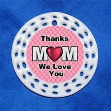 Thanks Mom We Love You Porcelain Gift 3 Formats Heart Plaid Mothers Day Mother