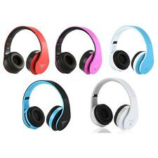 Wireless Stereo Bluetooth 3.5mm Headset Headphone TF/SD MP3 Player FM Radio O0X8