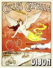 Cycles Capelle Dijon Vintage Bicycle Poster Cycling
