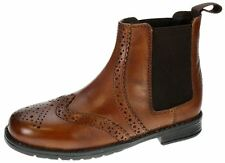 New Earth Rider Tan Brown Slip On Chelsea, Ankle Boots Boys Leather