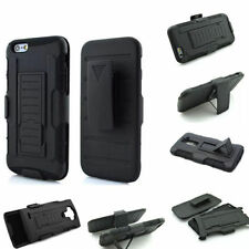 Rugged 3 in 1 Combo Hard Case Cover + Belt Clip Holster Kickstand For Cell Phone
