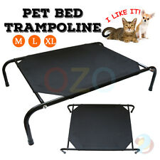 Heavy Duty Frame Pet Dog Bed Trampoline Hammock Canvas Cat Puppy Cot Size M L XL